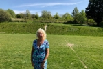 Councillor Carol Theobald at the urban fringe site in Horsdean that is under threat from City Plan Part 2